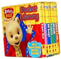 Rupert Bear Pocket Library 6 Board Books Collection Set
