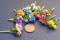 1:12 Bunch Of 2 Dolls House Miniature Polymer Clay Hydrangea Flowers Accessory