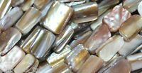 """string 16"""" shell nuggets natural colour 15mm beads"""