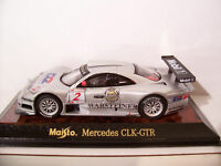 MERCEDES CLK-GTR #2 gris MOBIL au 1/43 MAISTO 31504 voiture miniature collection