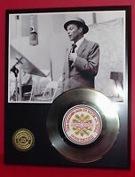 Frank Sinatra - 24k Gold Record Display - Free Shipping In The USA