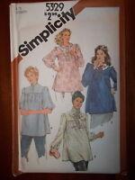 Simplicity 1981 Size 12 Women's Maternity Tops 5329 New Uncut