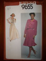 Simplicity 1980 Size 10 Women's Dress 9655 New Uncut