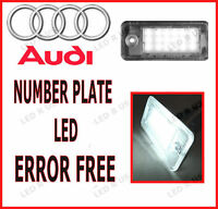 AUDI A4 B7 2007 NUMBER LICENSE PLATE 18 LED LIGHT BULBS LAMPS XENON WHITE