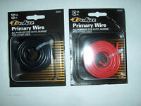Two rolls 12awg wire 1red/1blk 12 ft each solar cells solar panels diy USA made