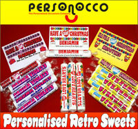 Personalised GIANT Sweets Christmas Gift - Love Hearts/ Parma Violets/Fizzers