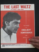 ENGELBERT HUMPERDINCK  -60's Sheet music-THE LAST WALTZ
