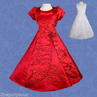Communion Dresses Bolero Wedding Flower Girl Bridesmaid Party Occasion Age 2-11y