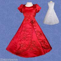 Communion Dresses Bolero Wedding Flower Girl Bridesmaid Party Occasion Age 2-11y