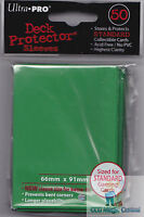 50 ULTRA PRO GREEN DECK PROTECTORS CARD SLEEVES FOR MTG WoW POKEMON