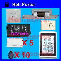 Waterproof RFID Keypad Strike Lock Door Access Control System B1u