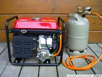 LPG Gas Campingas Umrüstset für Stromgenerator Notstromaggregat Stromerzeuger