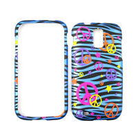For Samsung Galaxy S 2 T989 Case Peace Signs On Blue Zebra Skin Hard Cover