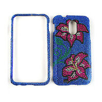 Flowers On Blue Diamond Cover For Samsung Galaxy S II Epic Touch 4G D710 Case