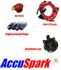 Mini 850/1000 8mm leads,AC9C plugs,Red Rotor & Distributor top cap for Lucas 25D