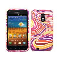 Red Purple Zebra Skin Cover Hard Case For Samsung Galaxy S II Epic Touch 4G D710