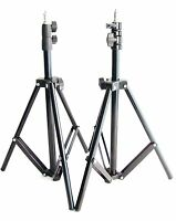 New 2 x 2M Pro Light Stands For Studio Lighting