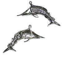 Anhänger Schwertfisch Fisch Metall versilbert  70 x 40  mm von Bacatus