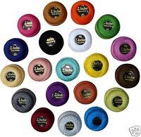 20 Bright Colours of Anchor Crochet Cotton Thread Balls no.8