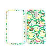 Hearts On Green Zebra Skin Hard Cover Case For Samsung Galaxy S 2 Skyrocket i727