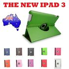 Green Smart Leather Cover Case Stand 360°Rotate For the new iPad iPad3 iPad2