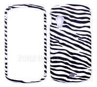For Samsung Stratosphere i405 Hard Case Black & White Zebra Print Skin Cover
