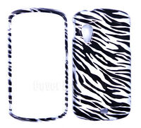 Phone Case For Samsung Stratosphere i405 Black & Gray Zebra Print Hard Cover