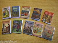 Miniature set of 10 Enid Blyton books kit  1:12th 1:24th scale dolls house UK