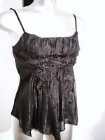 NEW (4786) ladies bustier corset top basque black size S