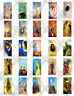 25 Odilon Redon Images -Symbolist Art - Collage Paper - for Glass Tile Pendants