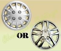 """2 UNIVERSAL FIT 14"""" INCH CAR WHEEL TRIMS COVERS REPLACEMENT R14 HUB CAPS SET"""