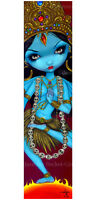 Jasmine Becket-Griffith art BIG print SIGNED Kali hindu goddess blue india pop