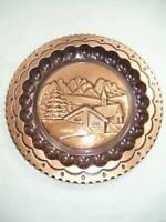 Piatto decorativo da appendere in rame paesaggio alpino