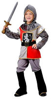 BOYS KIDS MEDIEVAL TUDOR KING KNIGHT FANCY DRESS UP COSTUME OUTFIT NEW 4-6-9-11