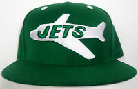 NFL New York Jets Mitchell and Ness Fitted  Vintage Throwback Retro Hat Cap M&N