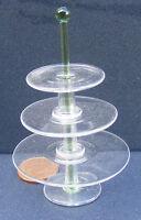 1:12 Three Tier Glass Cake - Sandwich Stand Dolls House Miniature Accessory G14G