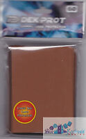 DEK PROT CARD SLEEVES 60 CT MOCHA BROWN FOR POKEMON MTG WoW