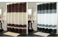 "IBIZA FABRIC SHOWER CURTAIN, LUXURY, BATHROOM ACCESSORIES, 70"" x 72"", 2 COLORS"