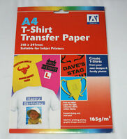 T-SHIRT TRANSFER PAPER..... 2 Sheets of IRON ON Paper for Light Coloured Fabrics