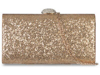 Ladies Glitter Box Clutch Bag Diamante Evening Wedding Cocktail Handbag K20801