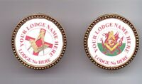 Masonic Pin Badge Personalised With Your Lodge Name & Number