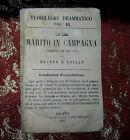 Libretto Antico 1863 Il Marito in Campagna di Bayard e Vailly