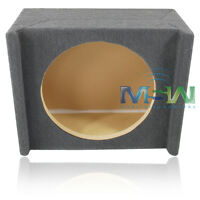 """MDF SHALLOW-MOUNT DOWN-FIRE BOX ENCLOSURE for 12"""" CAR AUDIO SUBWOOFER UNDER-SEAT"""