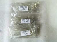 200pcs Eyepins Silver Plated For Jewellery Making, Defferent Sizes Please Choose