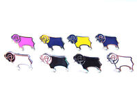 Derby County Ram small 16mm official pin badge - football badge