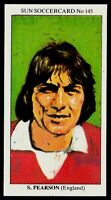 SUN-SOCCERCARDS-1979-#145-ENGLAND & MANCHESTER UNITED-HULL CITY-STUART PEARSON