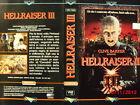 HELLRAISER III - VHS USATA EX NOLEGGIO - MULTIVISION 1993
