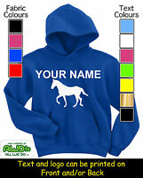 PERSONALISED CHILDS HORSE RIDING HOODIE / HOODIES - GREAT KIDS GIFT & NAMED TOO