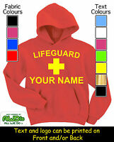 SWIMMING LIFEGUARD PERSONALISED HOODIE / HOODIES -GREAT GIFT FOR A CHILD & NAMED