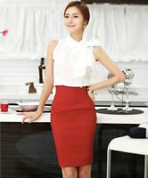 Ladies new womens pencil skirts womens belt stretch skirt long office work sexy